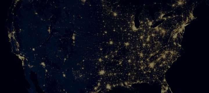 dark earth night view
