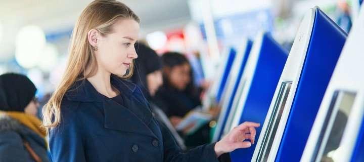 Lady near kiosk
