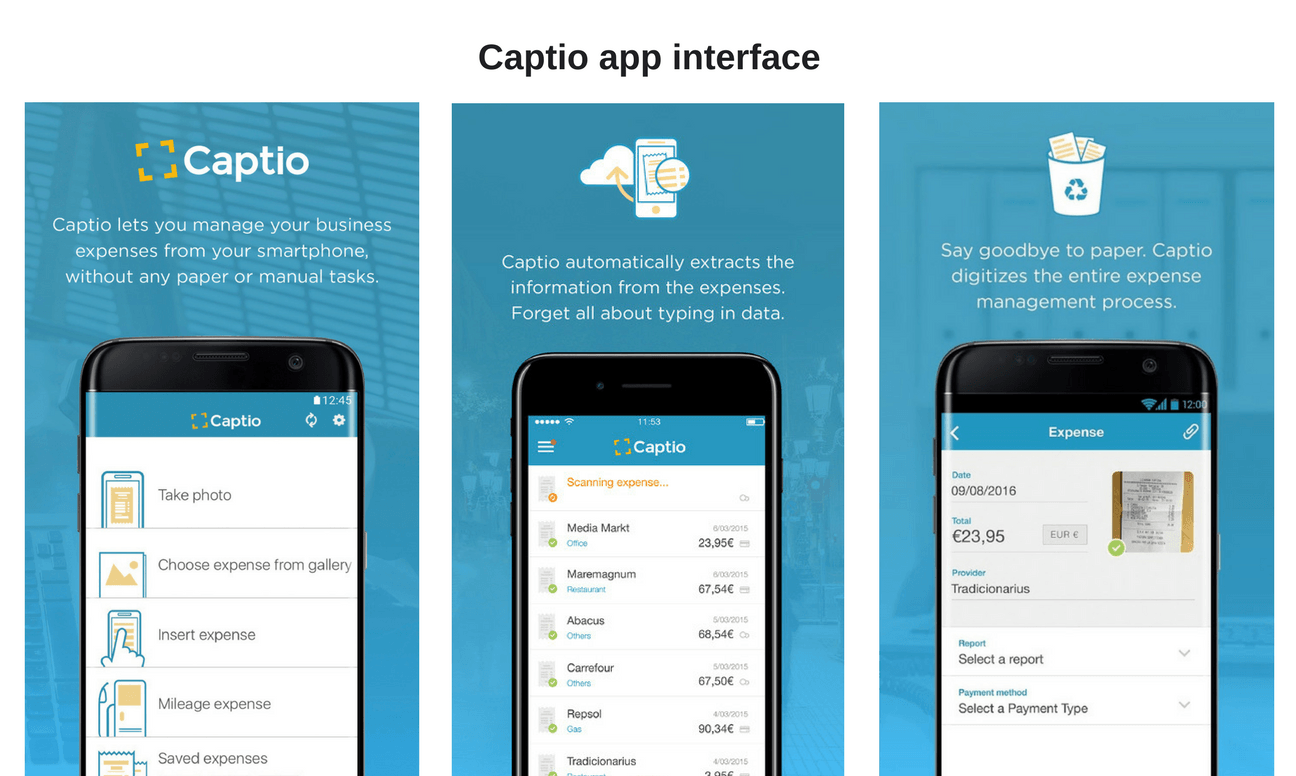 captio app interface