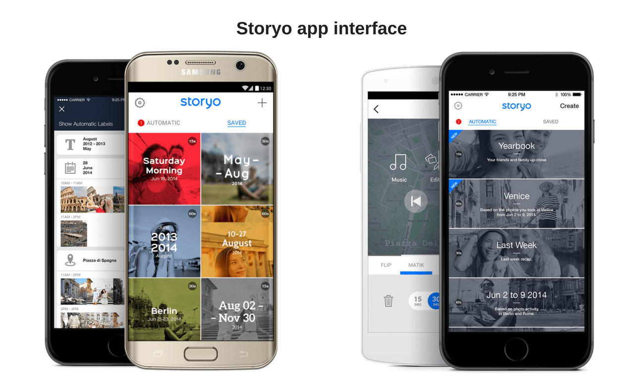 storyo app interface