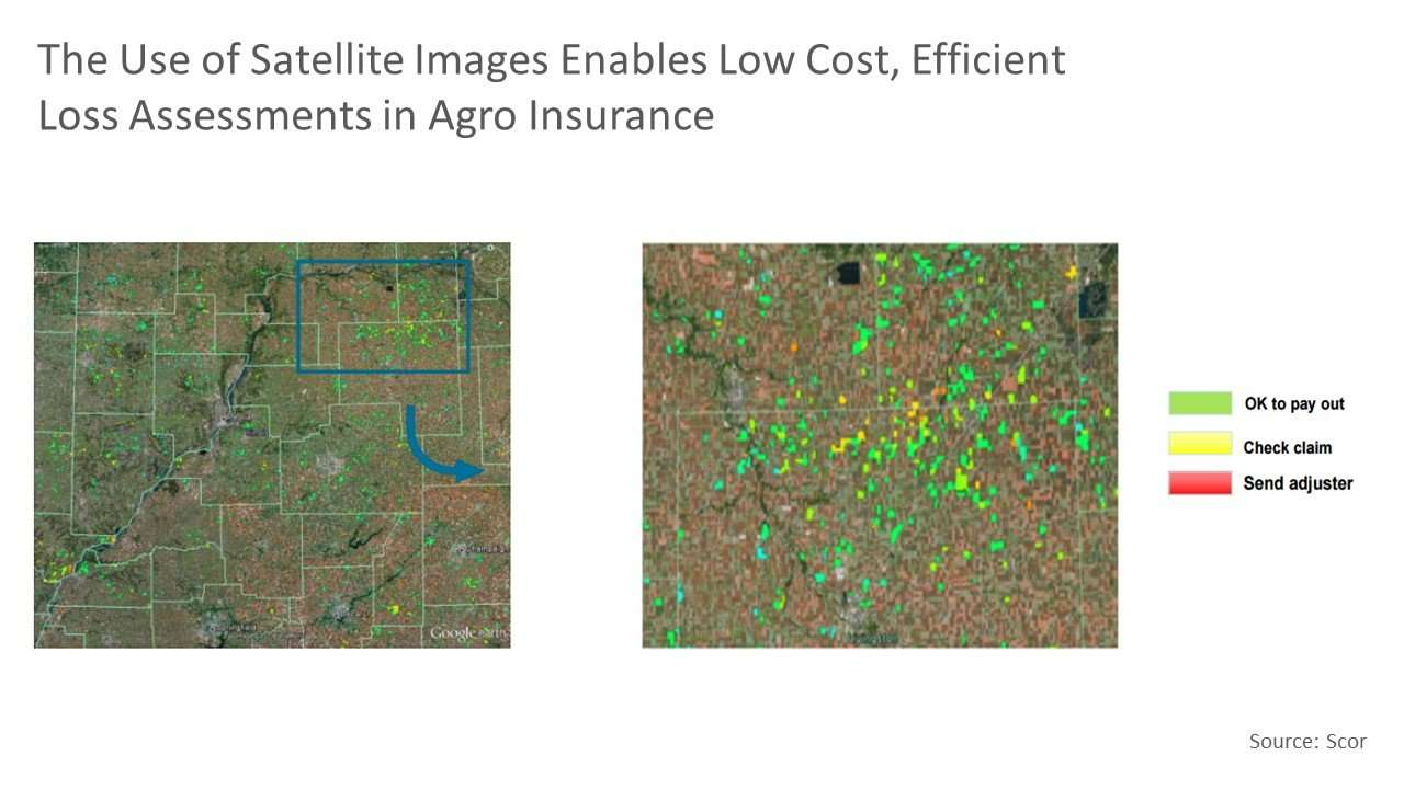 The use of satellite images enables low cost, efficient loss assessments in agro insurance