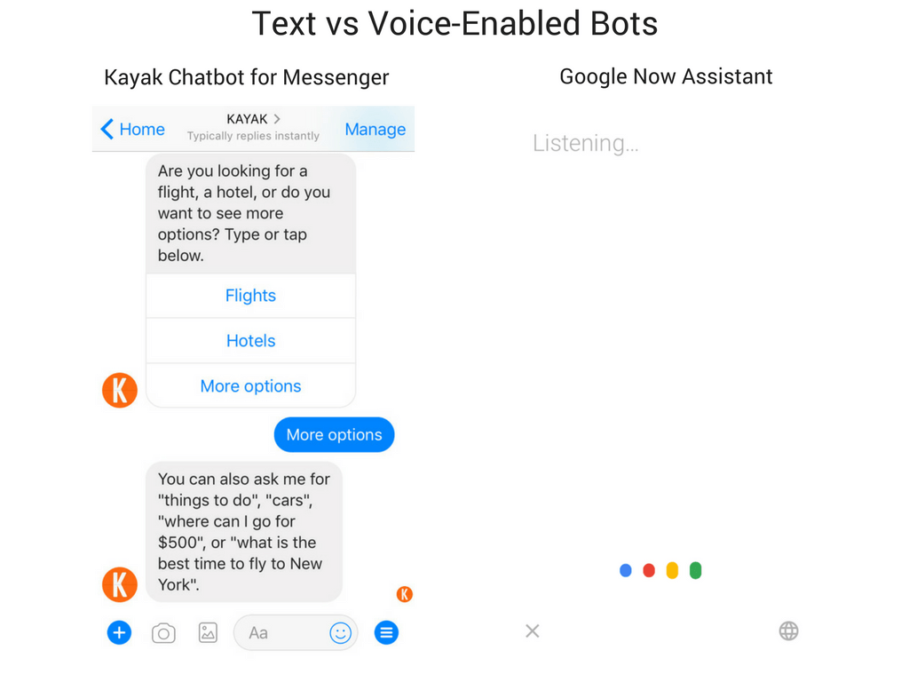 Text vs Voice-Enabled Bots