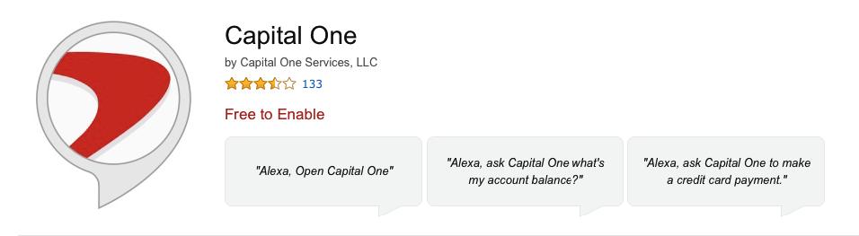 Amazon Alexa Skill for Capital One
