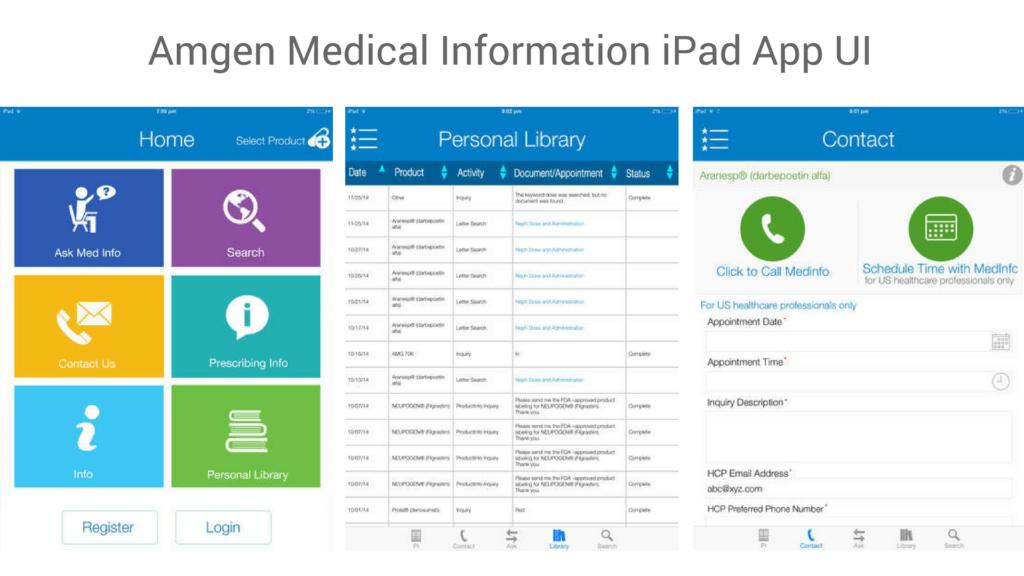 Amgen app UI