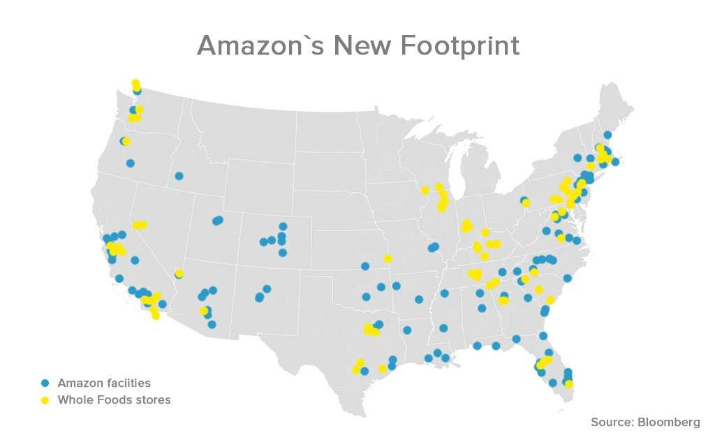 Amazon's new footprint