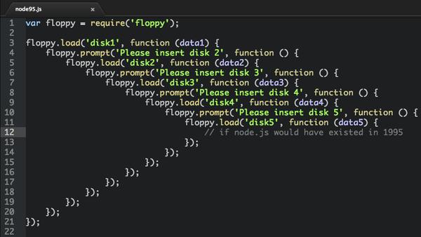 callback hell in JavaScript code