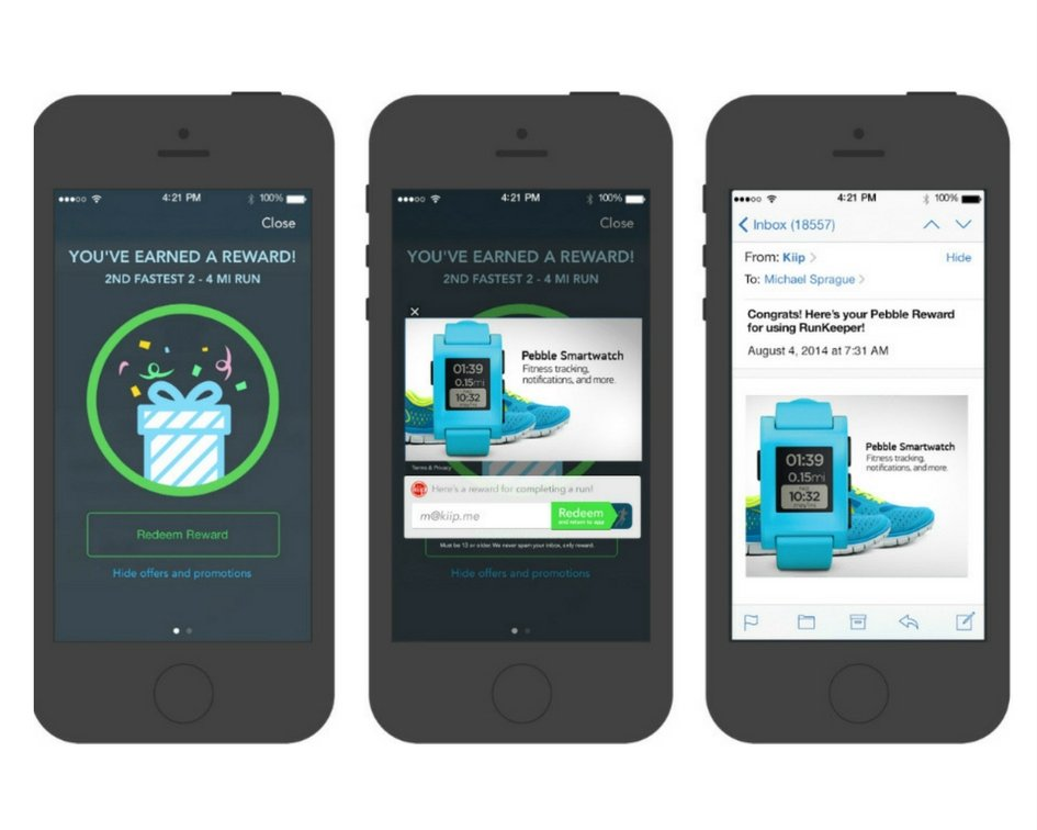 In-app sponsorship realized in RunKeeper