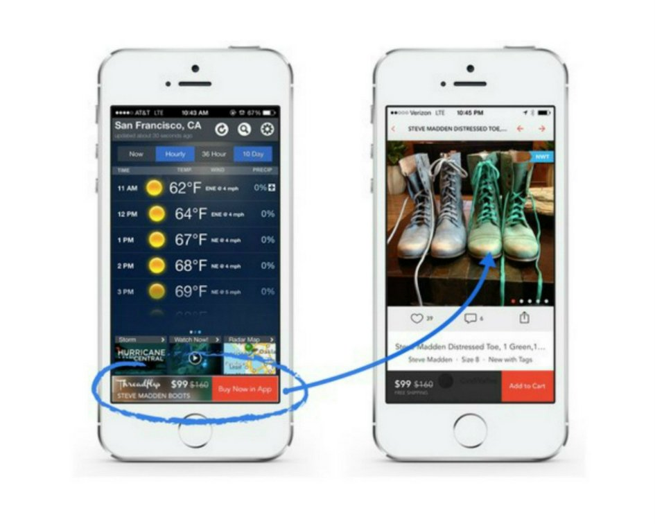 Example free with in-app advertising