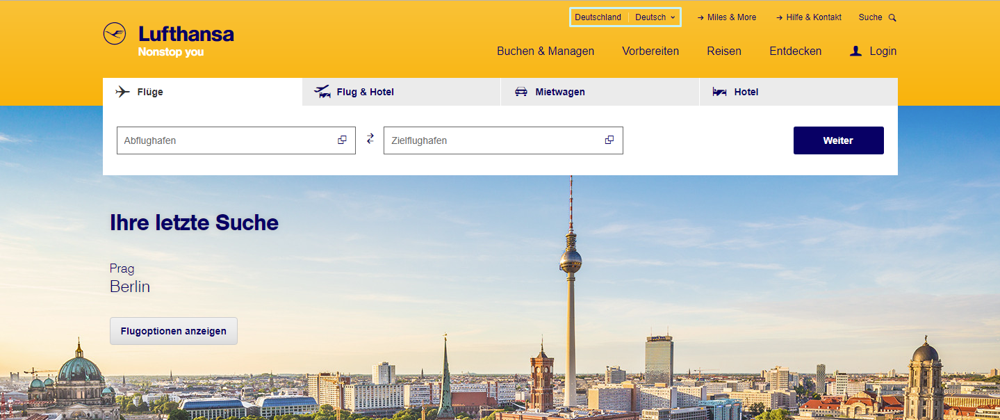 Lufthansa localization