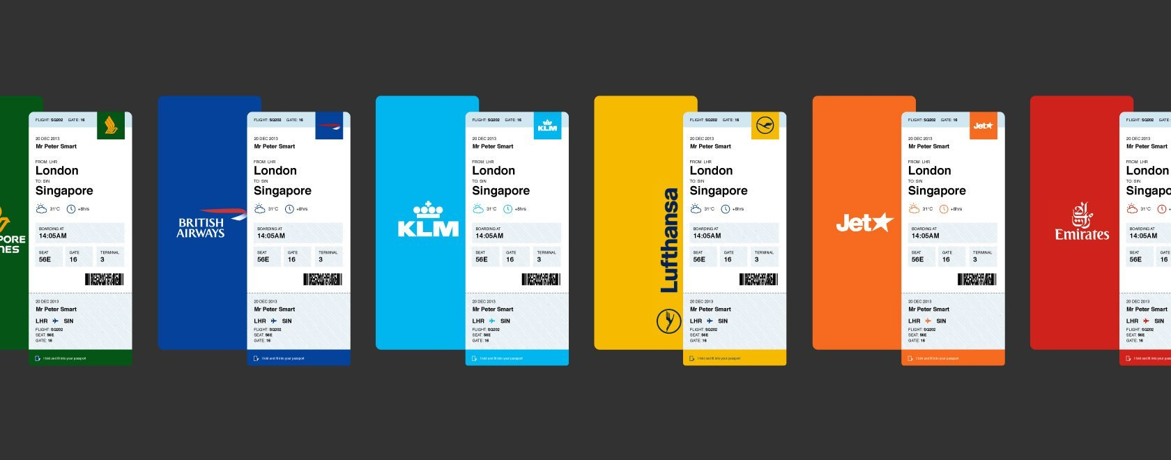 Concept of boarding passes