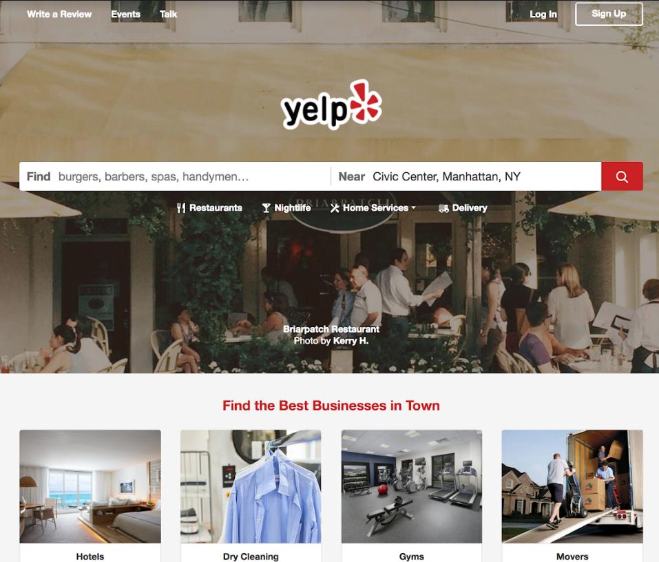Yelp conversion strategy