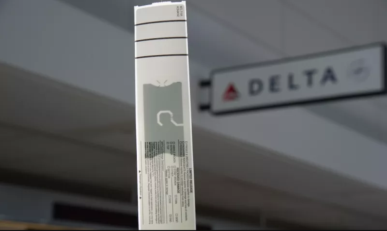 Delta bag tag with embedded chip