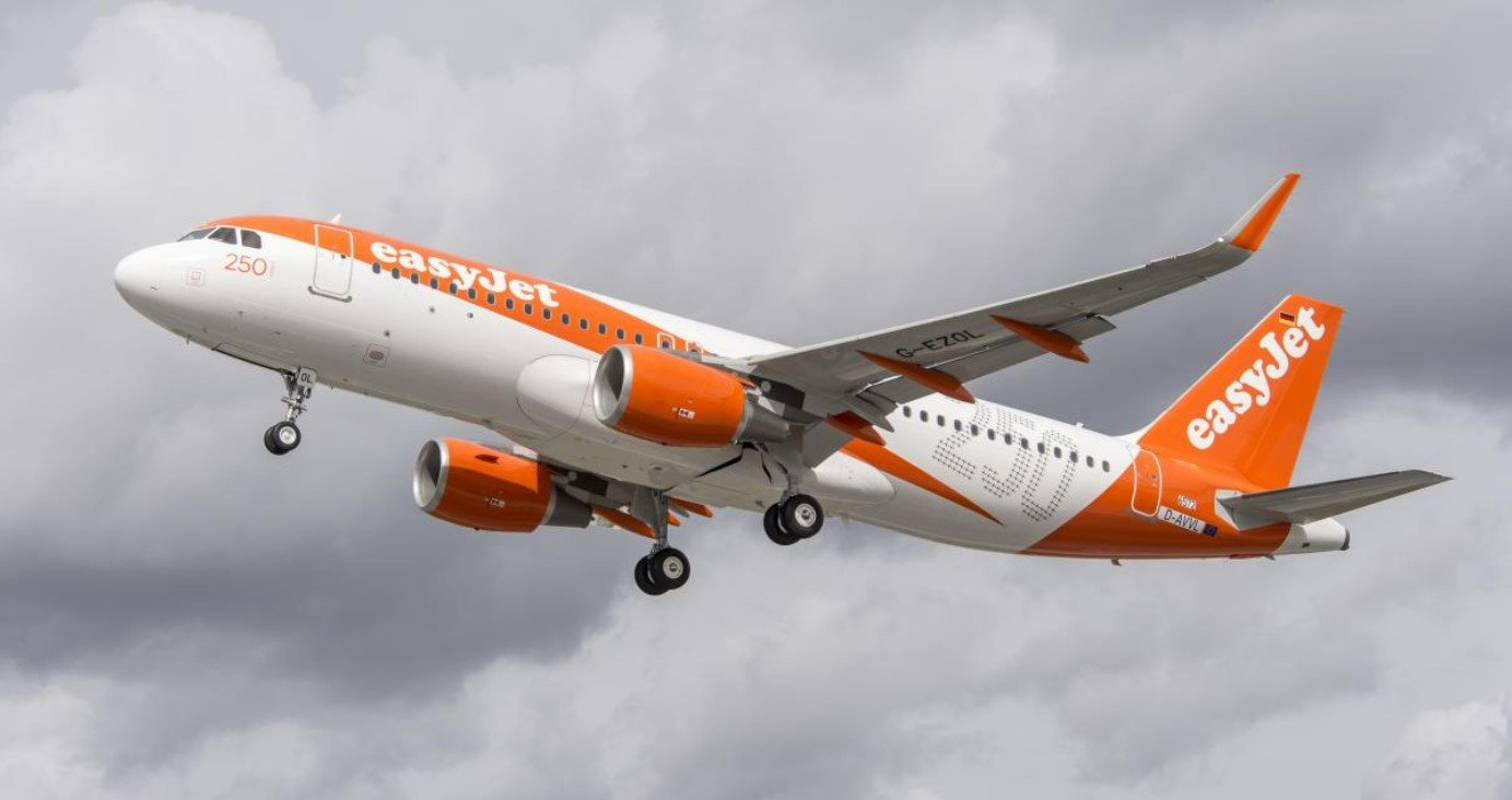 easyjet in the air