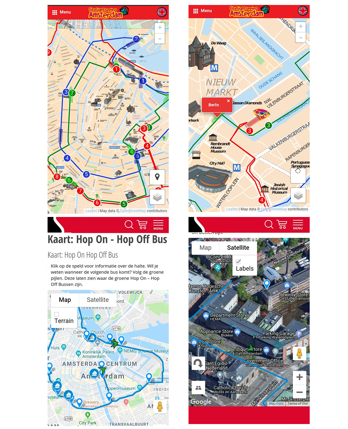 Public Transportation Apps' APIs and Platforms: Maps