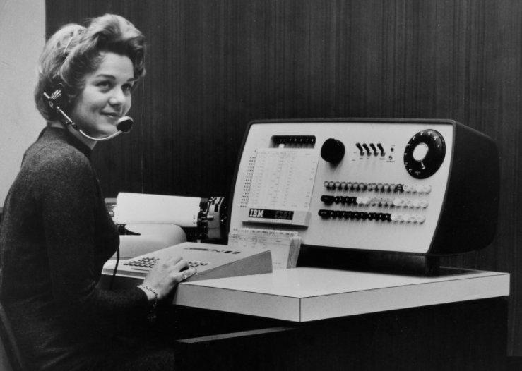 SABRE ticketing agent and her terminal