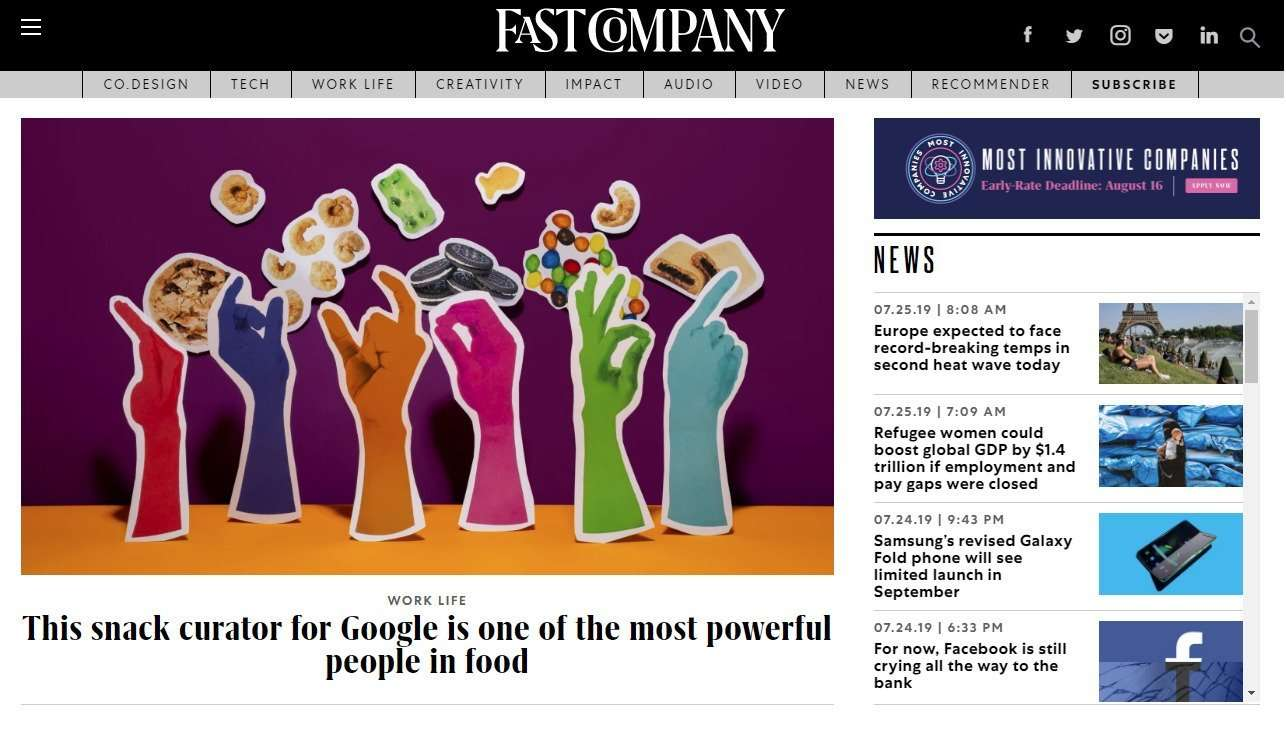 FastCompany page example