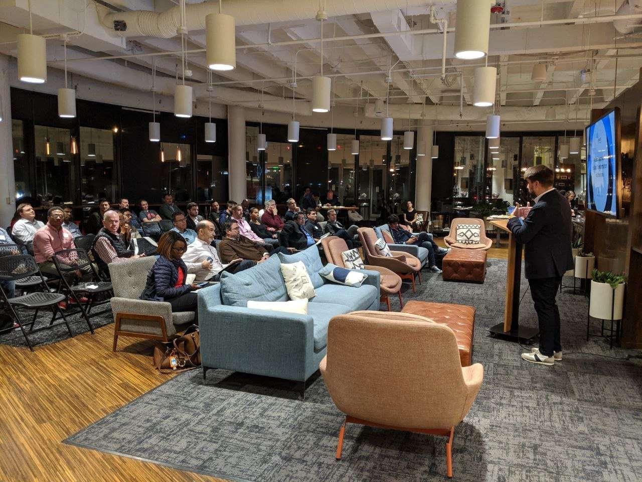 speech at a meetup