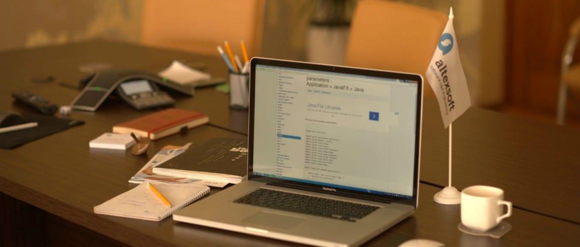 desk of an altexsoft employee