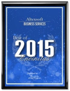 AltexSoft 2015 Best of Encinitas Award Winner logo