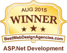 bestdesignagencies.com asp net development winner 2015 logo