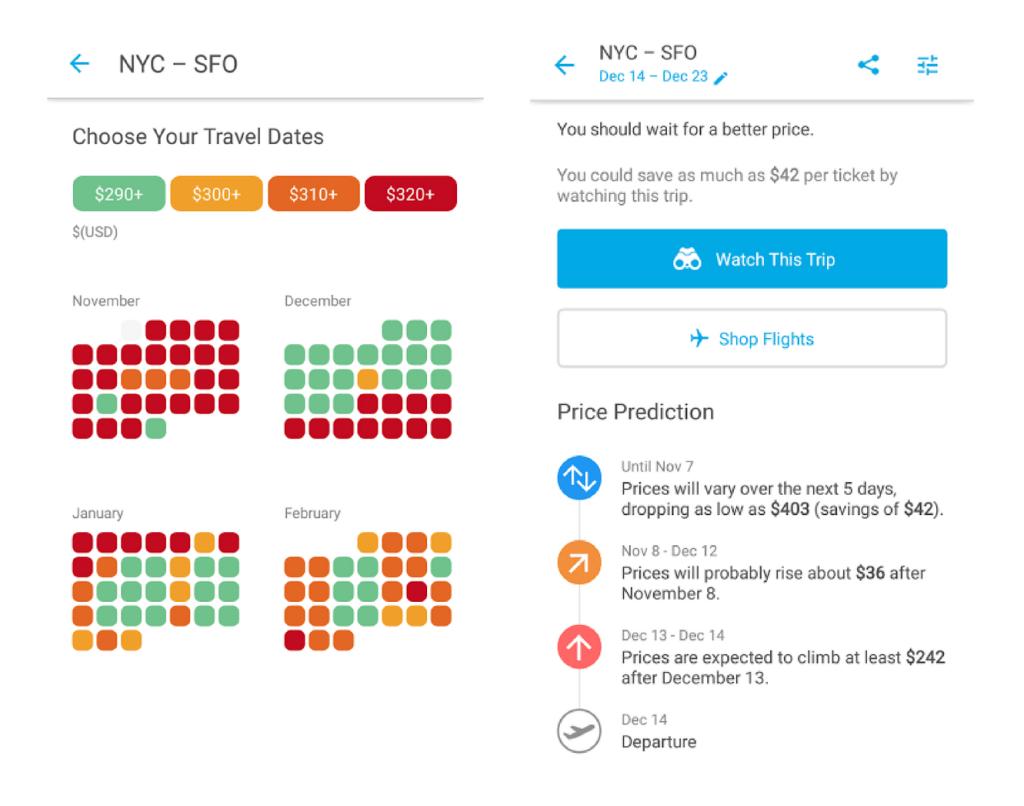 Hopper fare forecast app